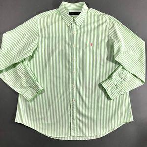Ralph Lauren Mens Striped Button Down Shirt, XXL